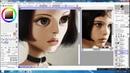 Матильда Процесс рисования цифрового мульт портрета