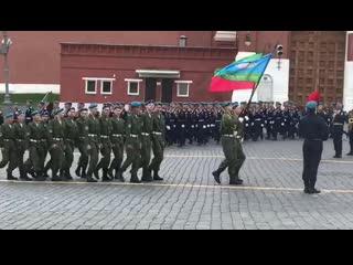 Нижнекамские парни прошлись по Красной площади в День ВДВ
