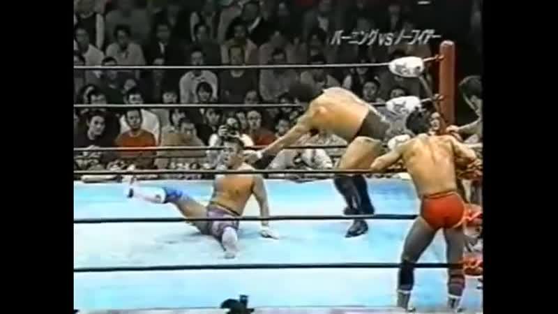 1999 10 09 Kenta Kobashi Jun Akiyama Kentaro Shiga vs Takao Omori Yoshihiro Takayama Masanobu Fuchi