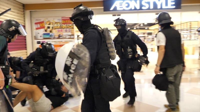 高清精華 防暴警察衝入百貨公司與太古地鐵站拘捕示威者,並驅趕 35352