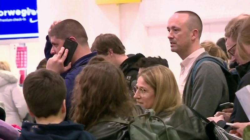 Загадочные дроны над взлетной полосой вызвали хаос ваэропорту Лондона Новости Первый канал