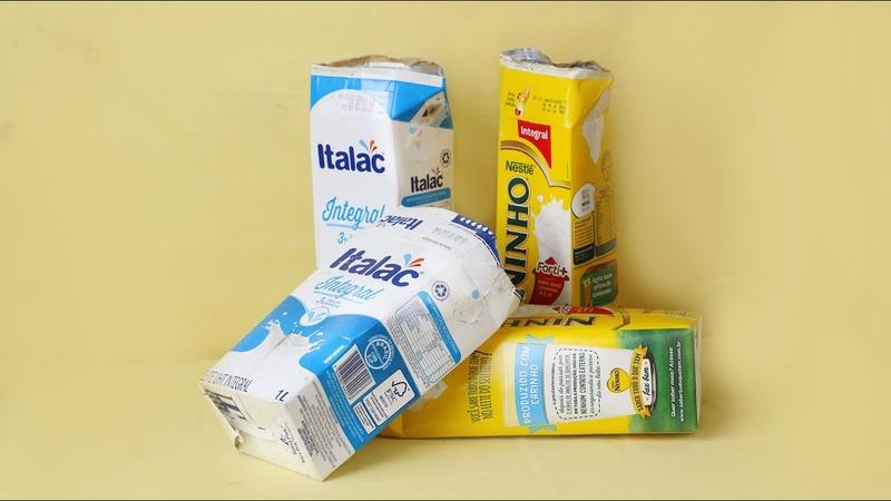 ARTESANATO   Ideias com caixa de leite