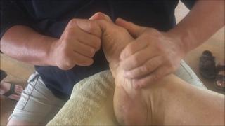 Deep Foot Reflexology Raynor Massage Style. Brandon doing deep foot massage on  Shane. Part 1