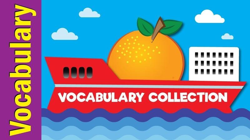 Vocabulary Collection Video Flash Cards Kindergarten Preschool ESL for Kids Fun Kids English