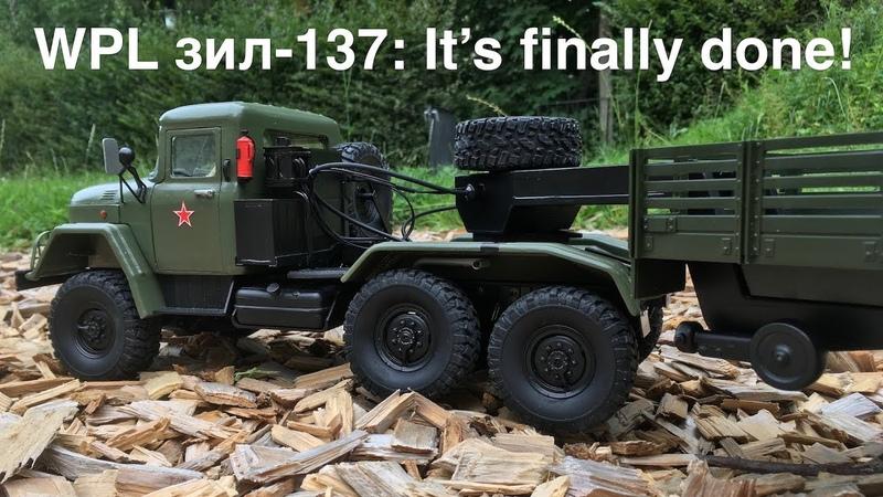 WPL ZIL-137 V8 10x10 Truck Done: Outdoor Test After Adding Final Details!