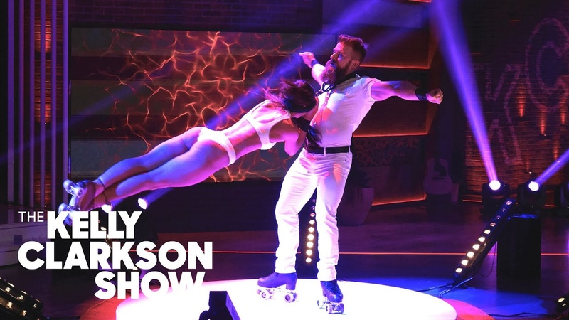 Watch Death Defying Roller Skating Duo Emily Billy From AGT The Kelly Clarkson Show