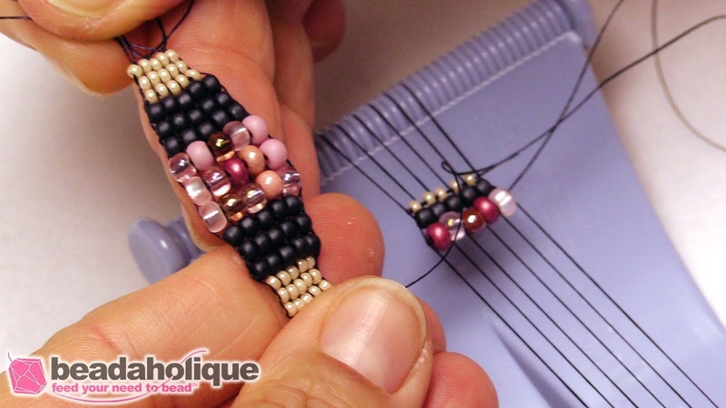 How to Taper Loom Weaving using Smaller Seed Beads