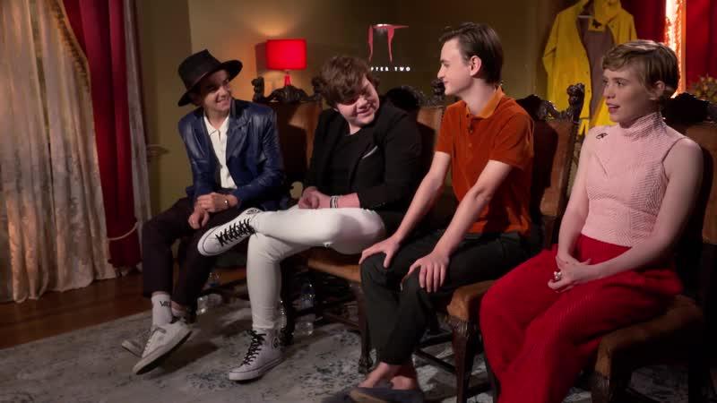 Jack Dylan Grazer Sophia Lillis Jeremy Ray Taylor Jaeden Lieberher talk IT Chapter 2 amp more