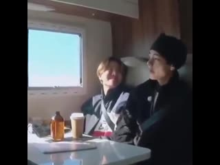 Hoseok was silently watching taehyung and when he turned to him he called him sexy, i can'.mp4