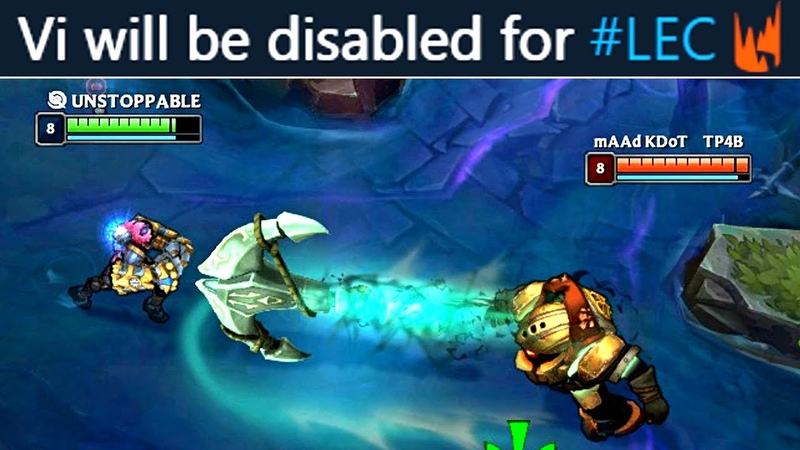 This is why Vi is DISABLED in Pro Play probably