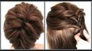 Прическа на короткие волосы разной длины Легкий способ Hairstyle for short Way