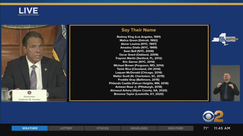Gov Andrew Cuomo Announces 'Say Their Name' Agenda
