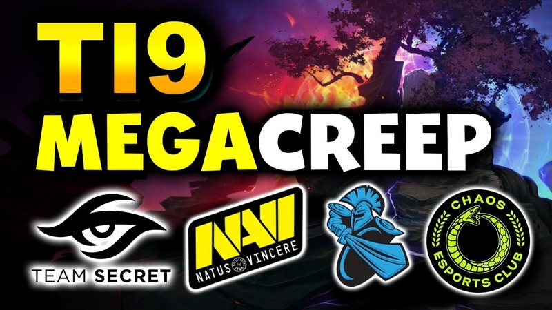 TI9 BEST MEGACREEP COMEBACKS SECRET NAVI NEWBEE CHAOS TNC DOTA 2