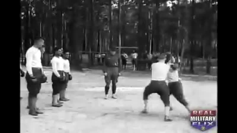U S Army's Basic Hand To Hand Fighting by Mike Gibbons of World War I Silent film