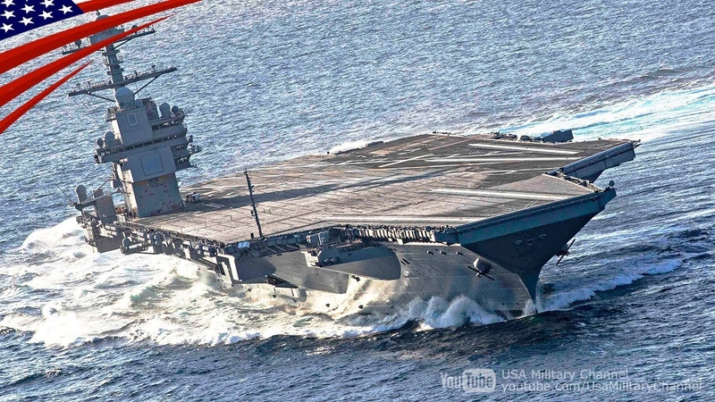 Amazing High Speed Turns by US Newest Supercarrier Ford CVN 78