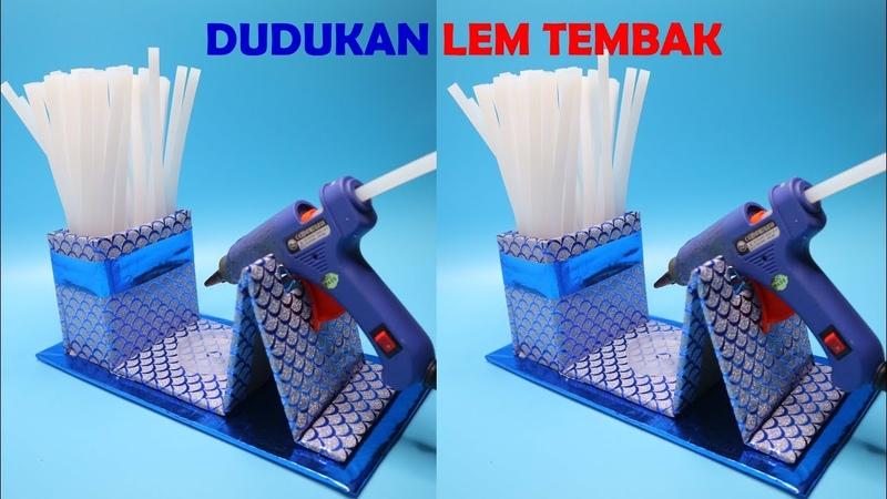 Membuat Dudukan LEM TEMBAK dari KARDUS BEKAS ! Stand Glue Gun from chardboard
