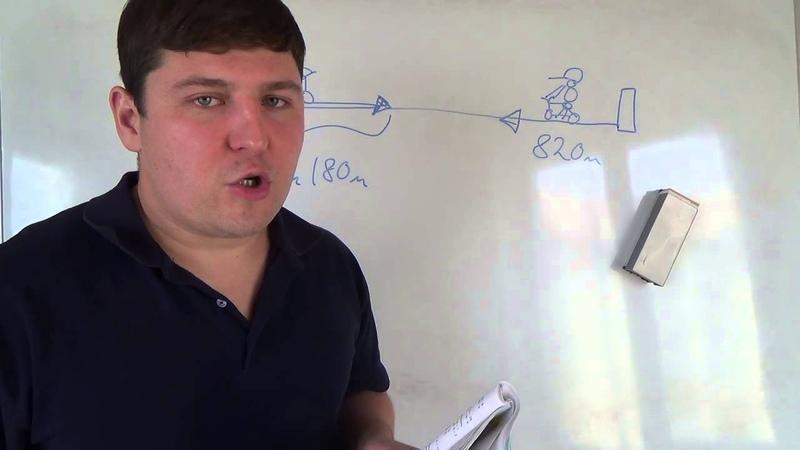 Математика 4 класс 29 октября Текстовая задача на расстояния