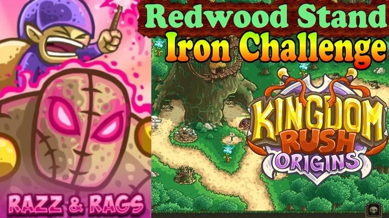 Kingdom Rush Origins HD - Redwood Stand Iron (Level 4) Hero Prince Razz and Rags