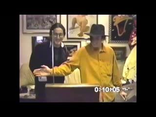 Michael Jackson, Sean Lennon and Theremin
