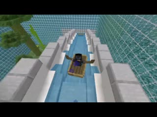 I made a giant waterslide in minecraft, enjoy!