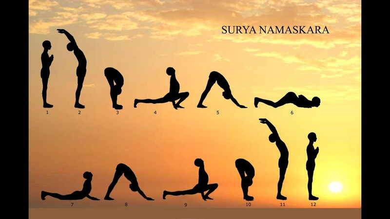 Сурья Намаскар. Техника выполнения. Surya Namaskar.