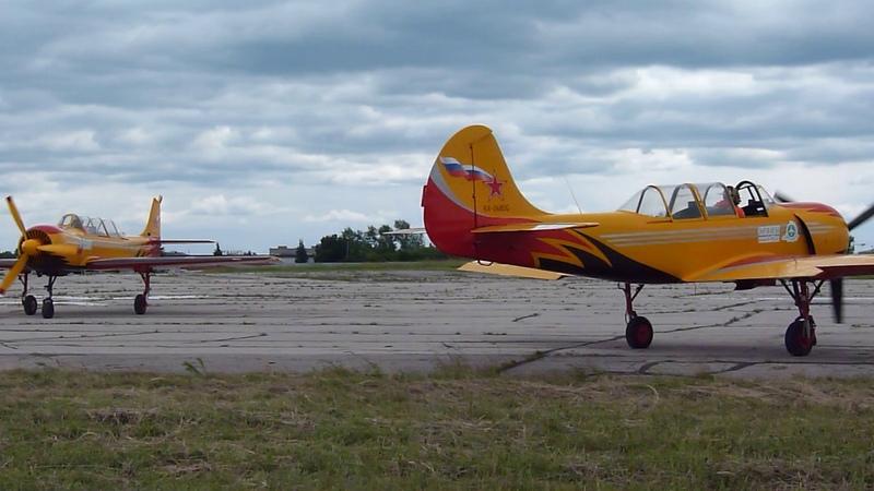 Тула аэр Клоково 14 07 2017 гвп Первый Полёт на Як 52 и Як 54 руление после посадки