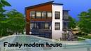 Family modern house (No CC)🏡 THE SIMS 4 🏡Tour DL