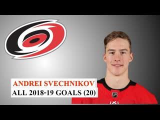 Andrei Svechnikov. All 20 Goals 18/19 NHL Season