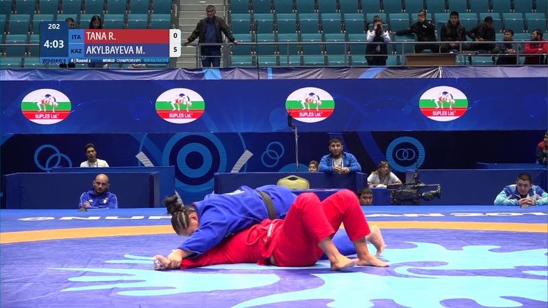 Round 2 Women's GP GI - 71 kg: R. TANA (ITA) v. M. AKYLBAYEVA (KAZ)