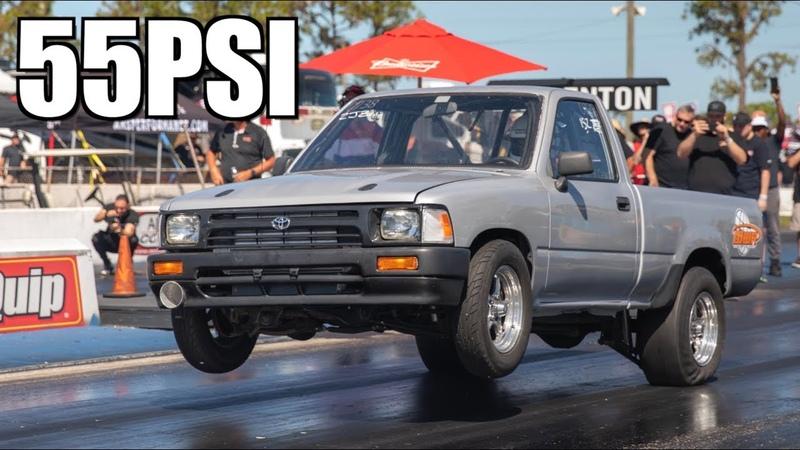1200HP Toyota Pickup Truck 55PSI Wheelie Rowdy K20 MR2 1400HP Stick Shift Supra