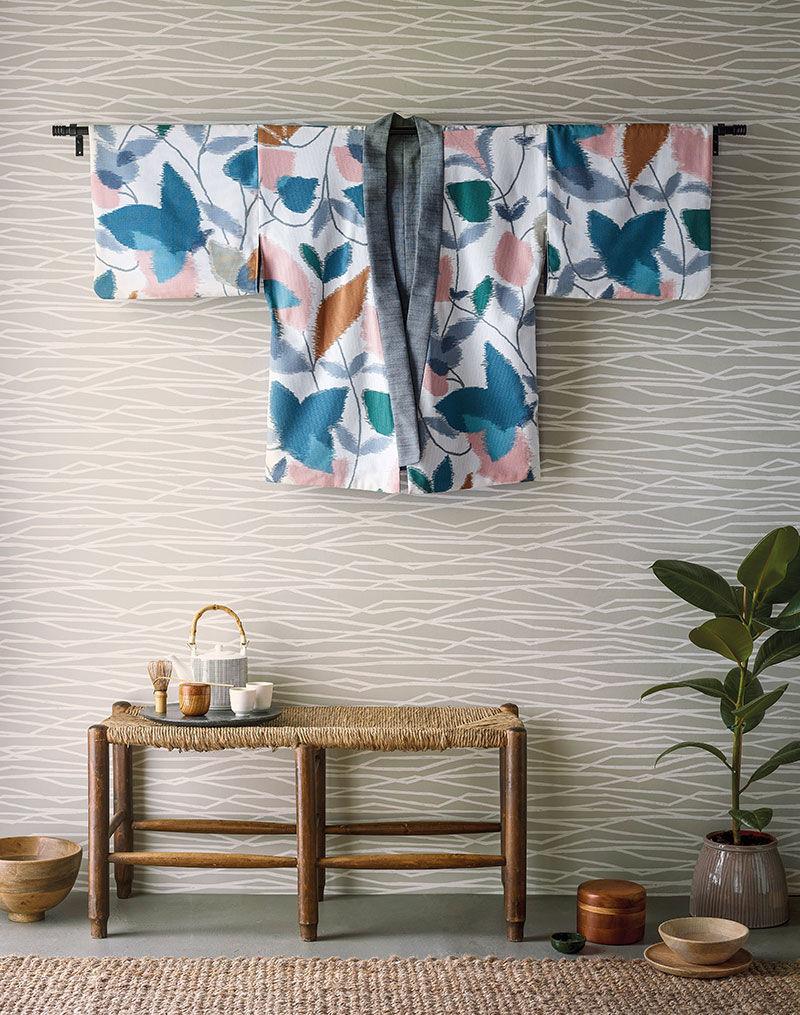 Японские мотивы в коллекции обоев и текстиля Japandi от Scion