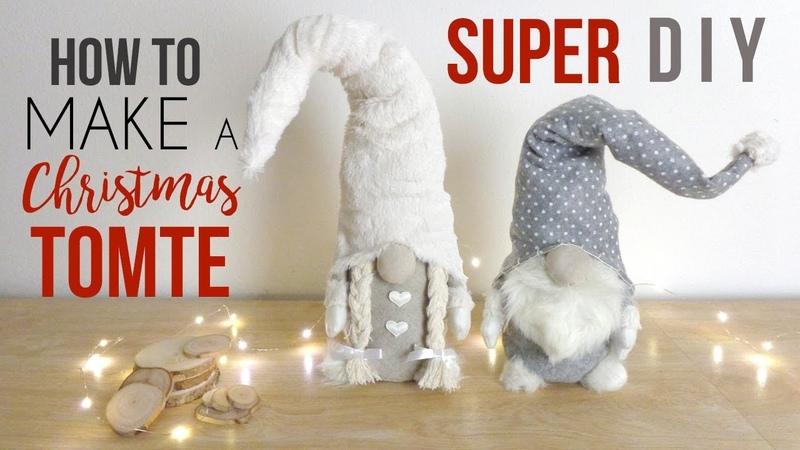 DIY CHRISTMAS GNOME SCANDINAVIAN TUTORIAL 🎅 TOMTE NISSE ROOM DECOR CRAFT IDEA HOMEMADE VLOGMAS 2018