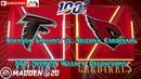 Atlanta Falcons vs Arizona Cardinals NFL 2019 20 Week 6 Predictions Madden NFL 20