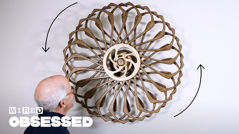 How This Guy Builds Mesmerizing Kinetic Sculptures Obsessed WIRED