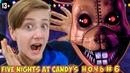 ШЕСТАЯ НОЧЬ в игре ПЯТЬ НОЧЕЙ С КЕНДИ Five Nights At Candys / НОВЫЕ АНИМАТРОНИКИ 13