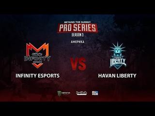 Infinity Esports vs Havan Liberty, BTS Pro Series Season 3: Americas, bo2, game 1 [Smile & Eiritel]
