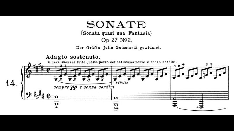 Beethoven Sonata quasi una fantasia No 14 in C Minor Moonlight Lortie Jando