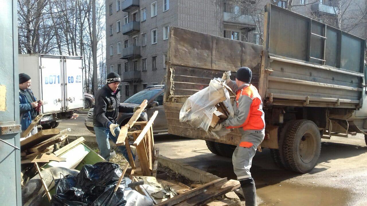 Улица Менделеева дом 7 вывоз мусора после