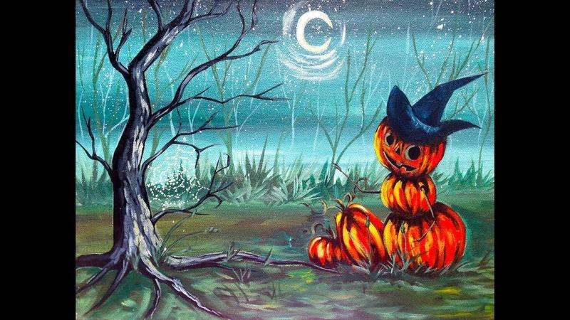 How to Paint| Halloween Pumpkin Man| Easy Art