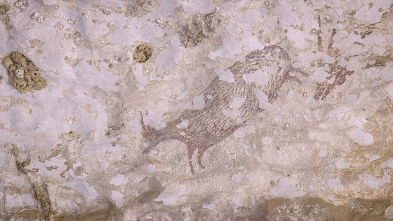 В Индонезии нашли древнейшие наскальные изображения зверолюдей