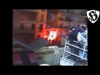 Hooligans fight _ nice vs psg