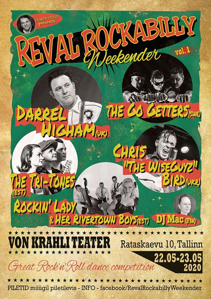 22-23.05 REVAL ROCKABILLY WEEKENDER В ТЕАТРЕ VON KRAHLI!