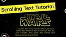 Star Wars Scrolling Text Tutorial CSS Animation