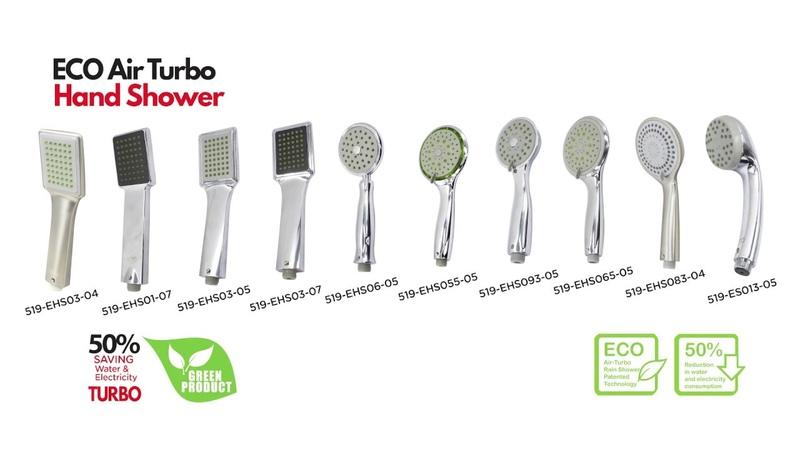 VTO ECO Air Turbo Hand Shower : Save Water, Energy and Your Money