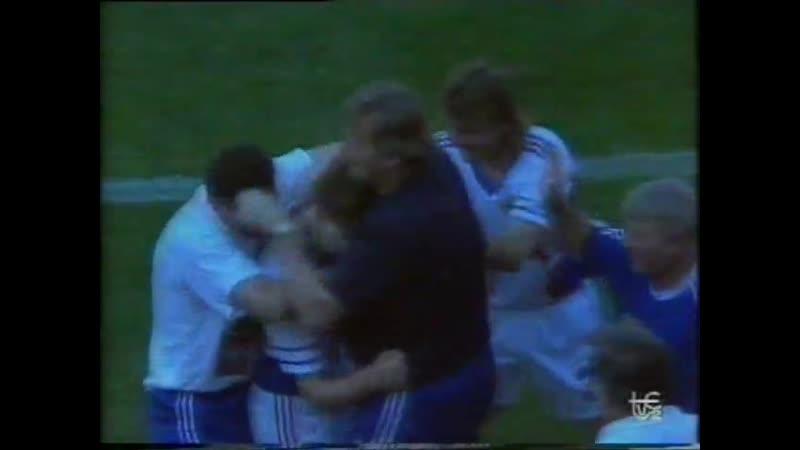 ЧМ-1990. Драган Стойкович - мяч в ворота сборной Испании