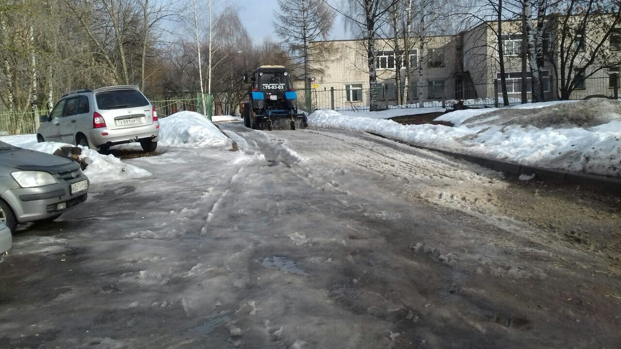 Улица Монтажников дом 28 чистка территории от