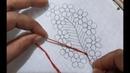 Hand embroidery buttonhole brazilian stitch flower design