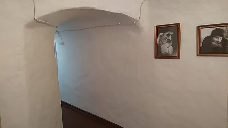 Келья преподобного Симеона Псково-Печерского. Любительская съемка.