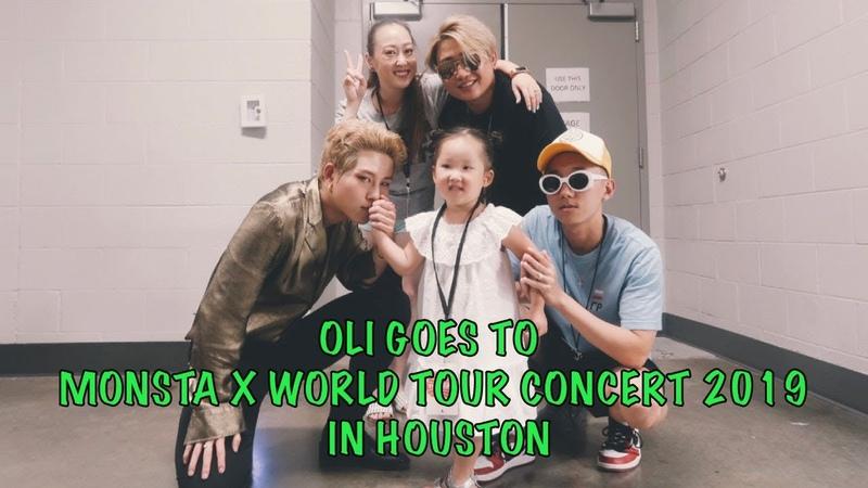 OLI GOES TO MONSTA X WORLD TOUR CONCERT 2019 HOUSTON