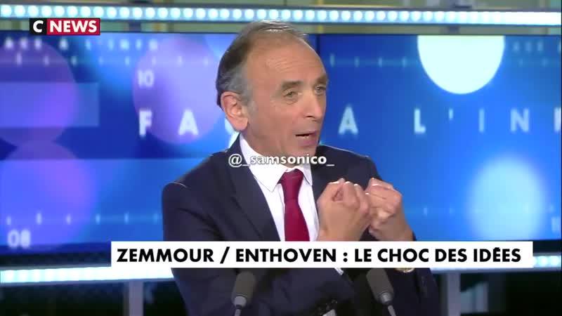 Éric Zemmour face à Raphaël Enthoven Lidentité française est en train de mourir